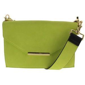 Handbags - INC Women Handbag Green Faux Leather Crossbody Bag
